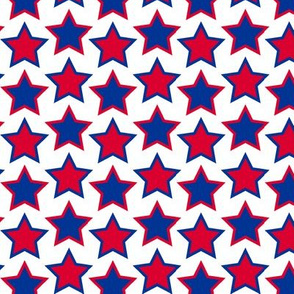 stars - navy & red