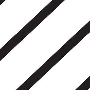 Diagonal Stripe Black & White