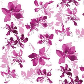 Tropical Floral Raspberry