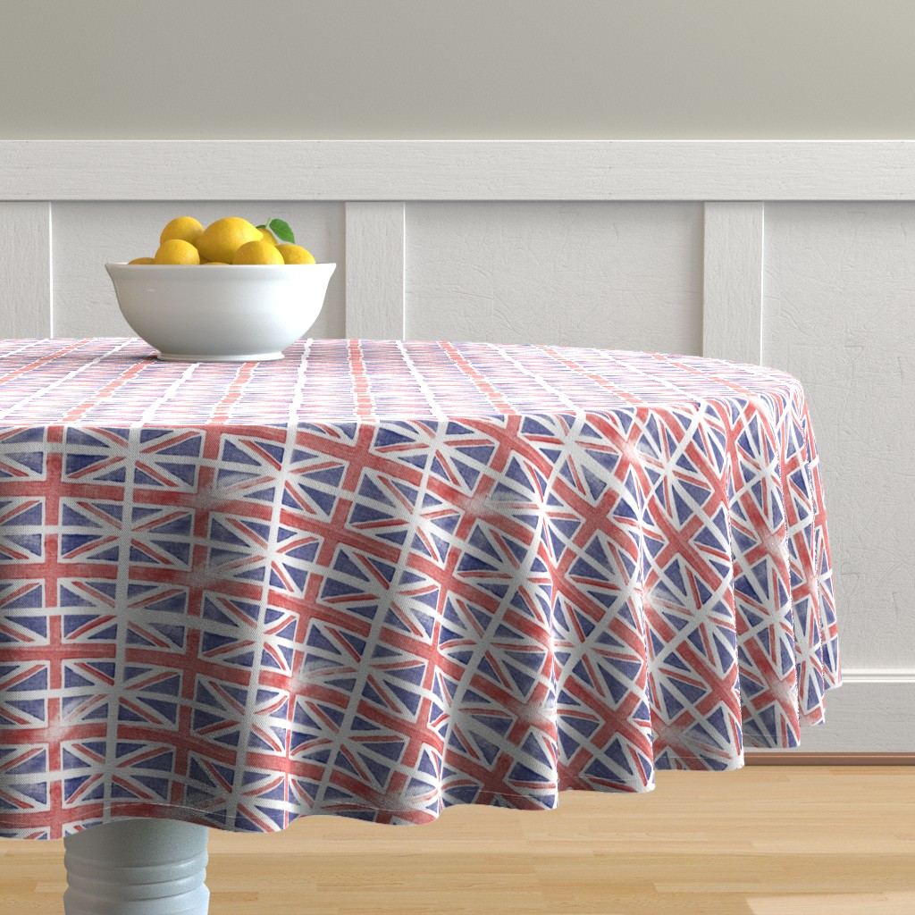 Malay Round Tablecloth featuring Jubilee Jack || Union Jack United Kingdom flag England London royalty Britain British queen patriotic by pennycandy