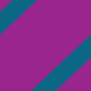 Diagonal Stripe Purple & Blue
