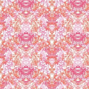 Wallpaper Floral Pink & Coral
