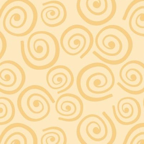 Cupcakes and Swirls Collection - Swirls on Yellow by JoyfulRose
