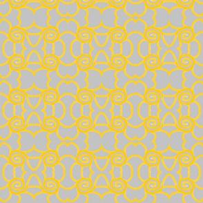 yellow swirls on grey