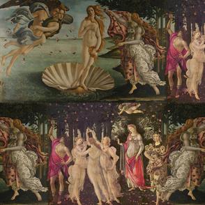 Botticelli Birth of Venus and Primavera Large Horizontal