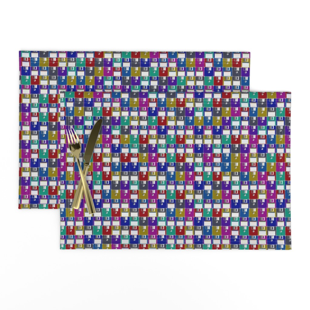 Lamona Cloth Placemats featuring Floppy Disks Small by spacefem