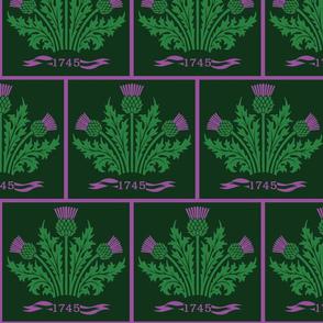 Jacobite Scottish Thistle, dark green bg
