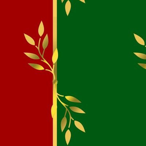 Red, Green, Gold, and Violet Stripes