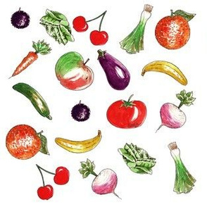 Farandole of fruit and vegetables