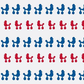 Poodle Polka Dots All American Red White Blue