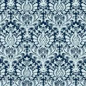 India Damask blue