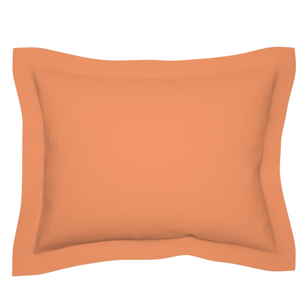 Sebright Pillow Sham featuring Raw Salmon by spacefem