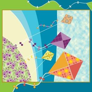 Aloft - a Kite Quilt Panel