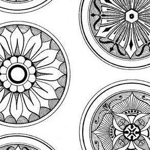 Medallions in Black and White