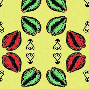 Red & Green Cowries