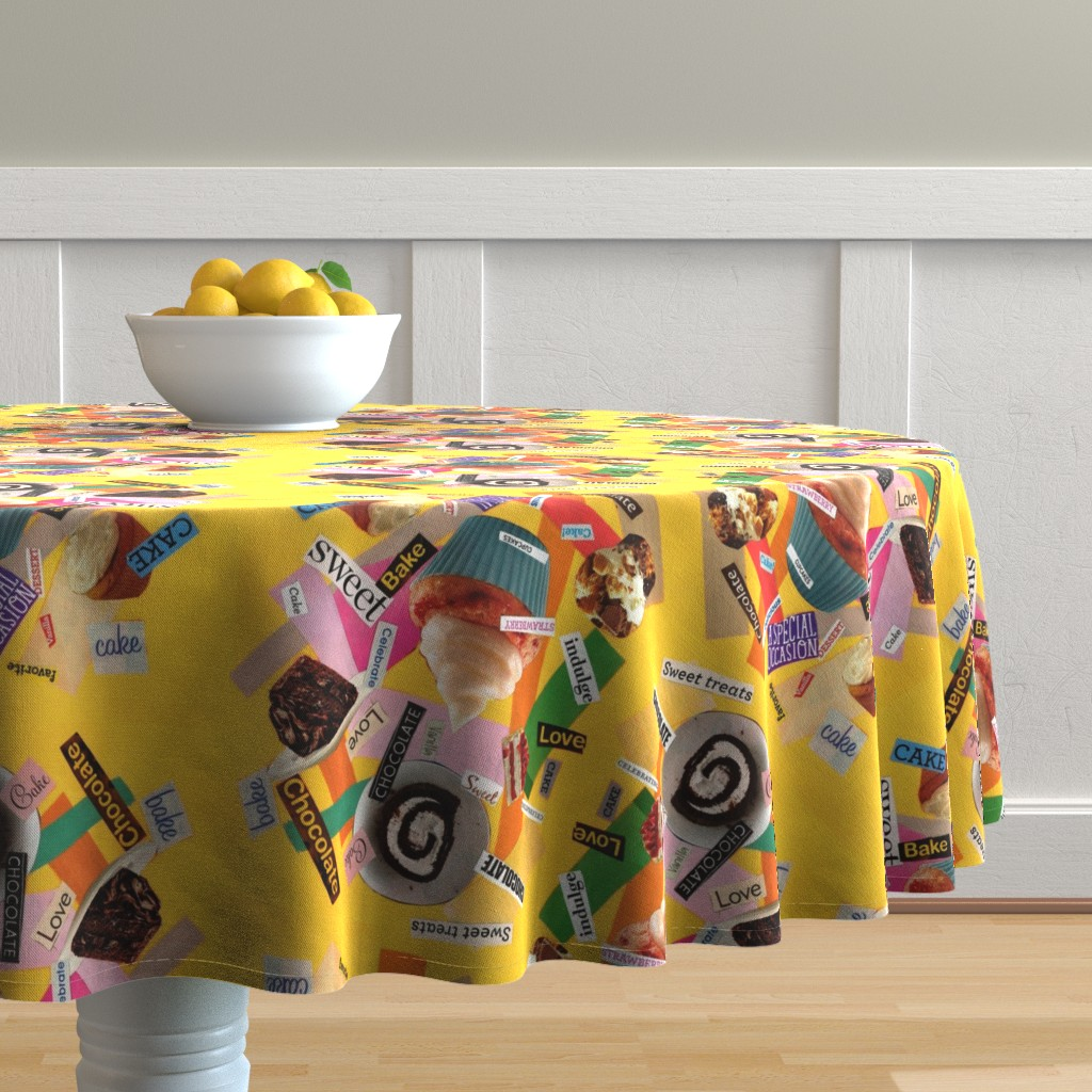 Malay Round Tablecloth featuring CAKE! by four_flowers_designs