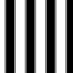 Fat Stripes Cabana in Black and White