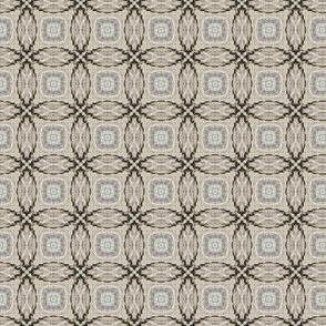 Driftwood -- Interlocking circles in beiges and dark browns