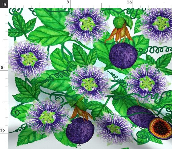 Passiflora Edulis Spoonflower