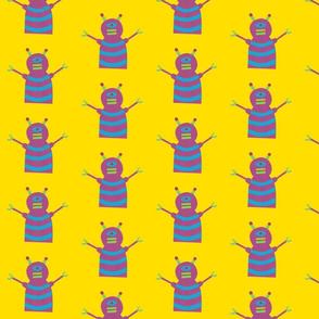 robots beep beep yellow