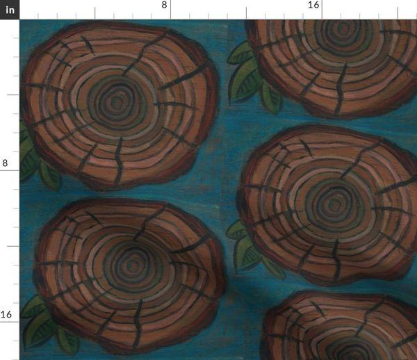Tree Ring Spoonflower