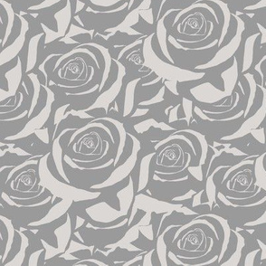 Gray Cabbage Roses