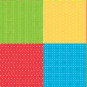 Dinosaurs squares red