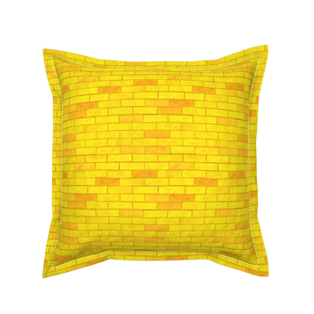 "Serama Throw Pillow featuring Wizard of Oz - Yellow Brick Road by JoyfulRose (Each brick is about 1.7"" wide x .6"" tall) by joyfulrose"