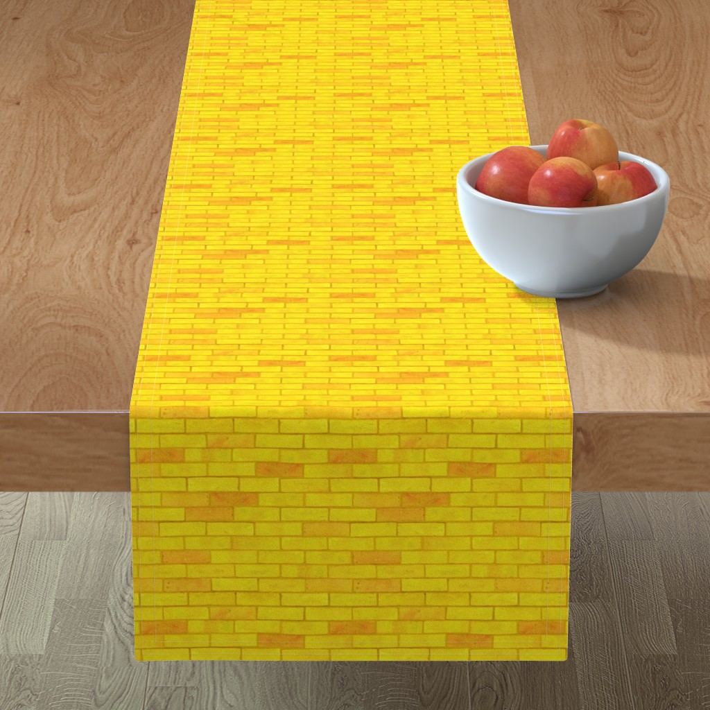 Minorca Table Runner featuring Wizard of Oz - Yellow Brick Road by JoyfulRose by joyfulrose