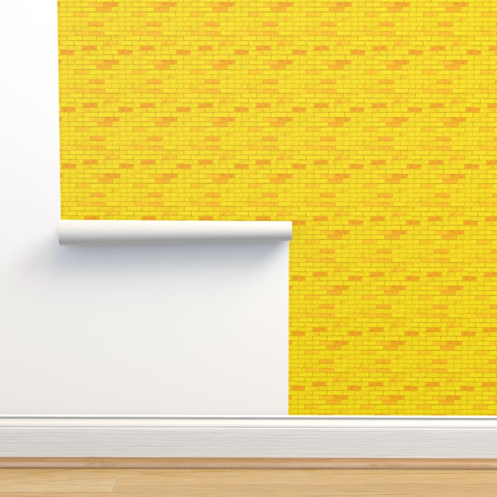 """Isobar Durable Wallpaper featuring Wizard of Oz - Yellow Brick Road by JoyfulRose (Each brick is about 1.7"""" wide x .6"""" tall) by joyfulrose"""