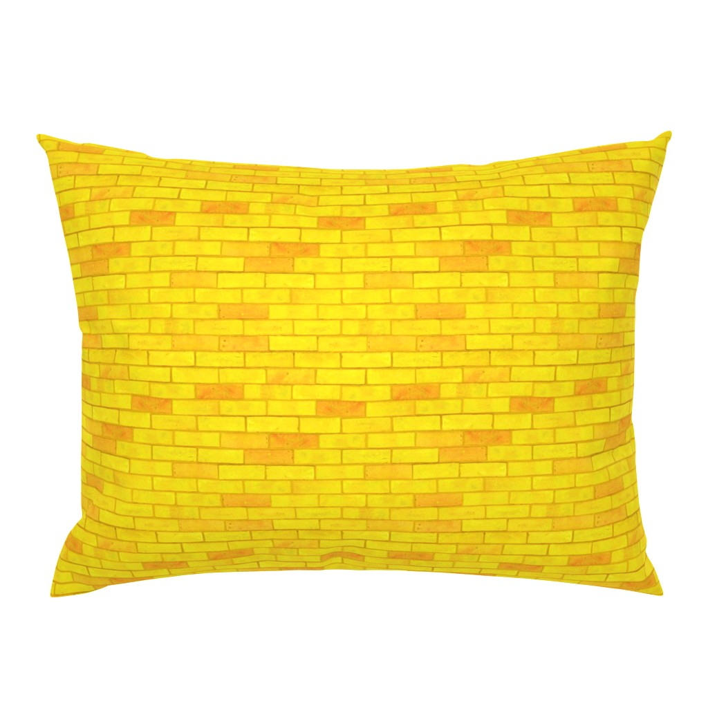 "Campine Pillow Sham featuring Wizard of Oz - Yellow Brick Road by JoyfulRose (Each brick is about 1.7"" wide x .6"" tall) by joyfulrose"