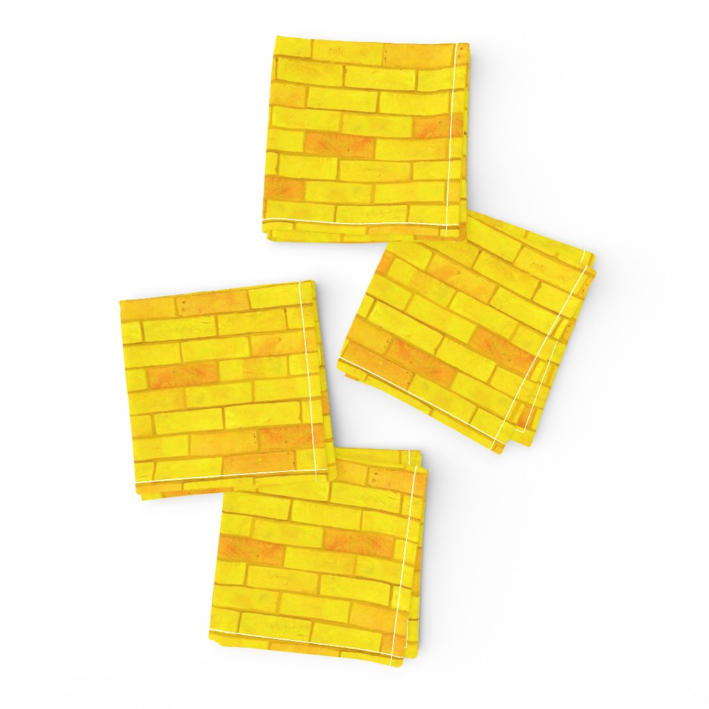 Frizzle Cocktail Napkins featuring Wizard of Oz - Yellow Brick Road by JoyfulRose by joyfulrose