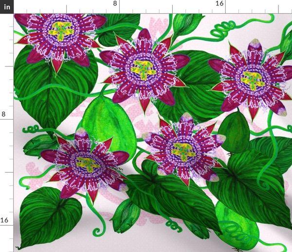 Passiflora Alata Spoonflower