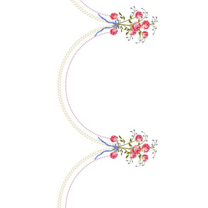 18th century embroided Petticoat