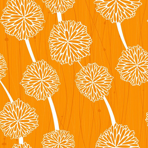 Pom Poms - Small Orange  by Friztin