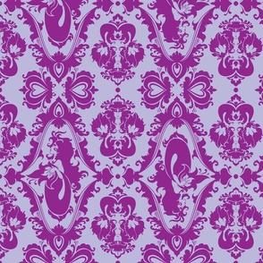Mermaid Damask (Purple)