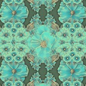 Floraplay: Antique Aqua -large