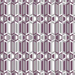 Parallelogram Trapezoid Stripe Grey