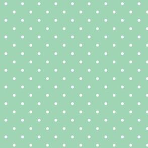 Polka dot - seafoam
