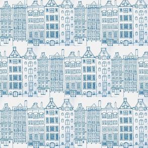 DutchHouses blue on white