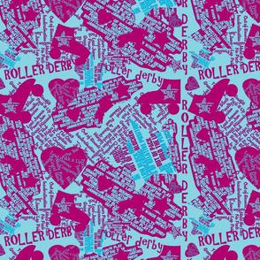 Do You Speak Roller Derby? - Blue/Fuschia