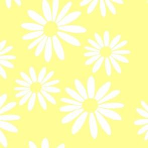 White Daisies on Yellow