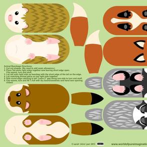 Woodland Animal Beanbags