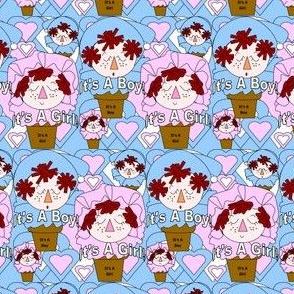 It's A Boy! It's A Girl! Terra Head Favors Fabric