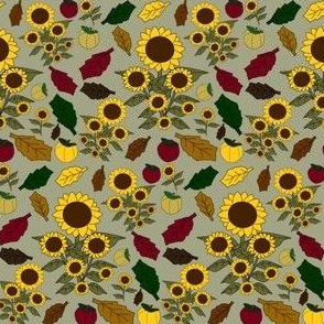 Fall Sunflower Seasonal Fabric