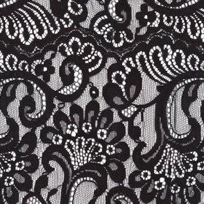 Large black lace