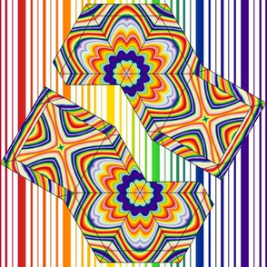 Rainbow Pyramid Swatch Toy
