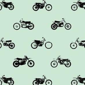 Classic motorcross vintage blue