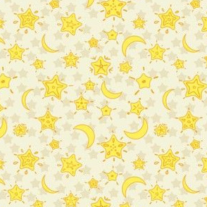 Stars background. Yellow.