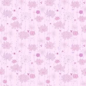 Plants background. Pink